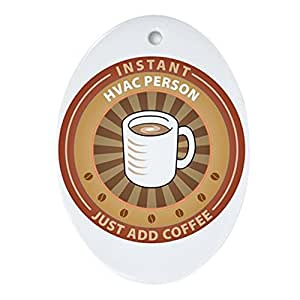 CafePress - Instant HVAC Person - Oval Holiday Christmas Ornament