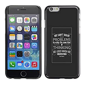 ROKK CASES / Apple Iphone 6 / TYPOGRAPHY - PROBLEMS & THINKING / Slim Black Plastic Case Cover Shell Armor