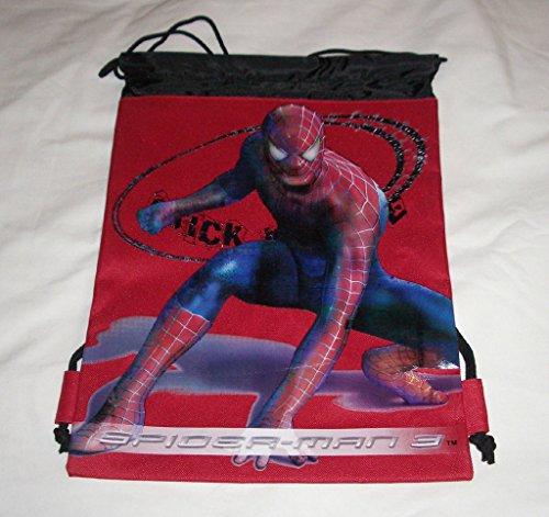 Marvel Red Amazing Spider-Man Licensed Drawstring Backpack Sling Child Tote Gym Bag-Show Original Title from Marvel