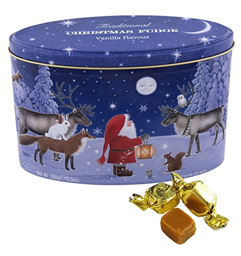 - Gardiners of Scotland Vanilla Fudge Caramel Gift Tin, Santa with his Reindeer, 10.56 Ounce