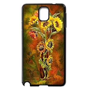 Good mood with sunflower Case Cover Best For Samsung Galaxy NOTE3 Case Cover KHR-U549255