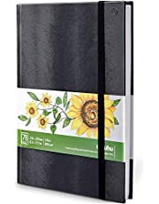 """Ohuhu Marker Pads Art Sketchbook, 8.3"""" ×11.7"""" Large Paper Size, 120Lb/200Gsm Heavy Smooth Drawing Papers, 78 Sheets/156 Pages, Hardcover Sketch Book, Specially Designed For Alcohol Markers"""