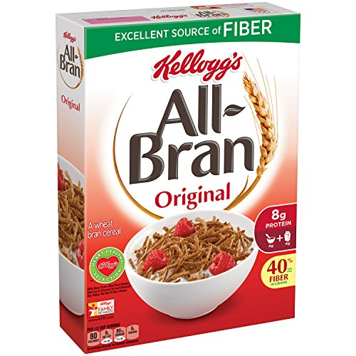 (All-Bran Cereal, Original, 18.3-Ounce Boxes (Pack of 5))