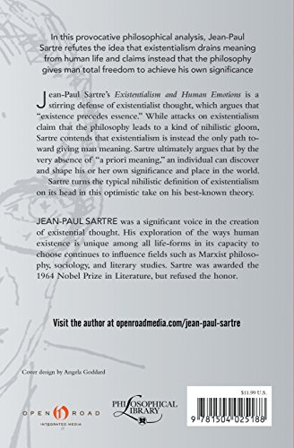 an analysis of jean paul sartres opinions in existentialism and human emotions Philosophy: by individual philosopher  jean-paul sartre  he is best known as  the main figurehead of the existentialism movement along with his french.