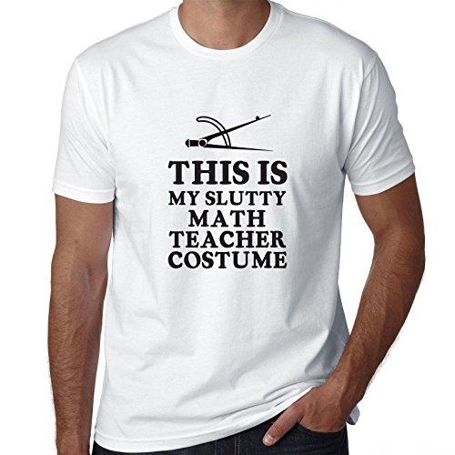 College Slutty Halloween (Funny This Is My Slutty Math Teacher Costume - Men's T-Shirt)