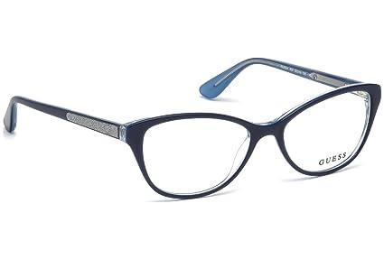 bf6b92983d Guess GU2634 Eyeglass Frames - Shiny Blue Frame