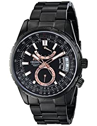 Orient Men's FDH01001B0 Voyager Dual Time GMT Black Dial Watch