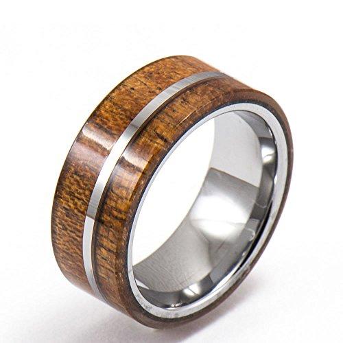 Tungsten Ring with Hawaiian Ko