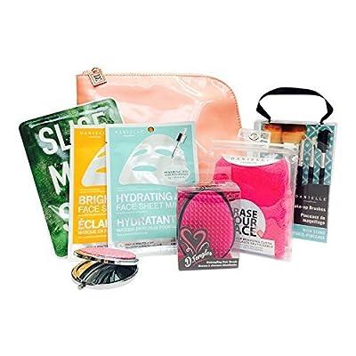8piezas bolsa de belleza Máscara de–Set de regalo de Navidad bolsa de cosméticos brochas de maquillaje para mujer regalo