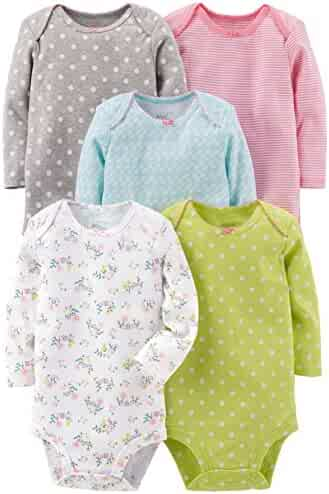 Simple Joys by Carter's Baby Girls 5-Pack Long-Sleeve Bodysuit
