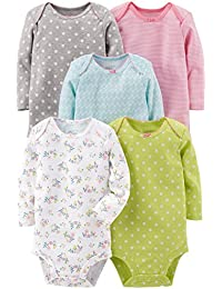 Baby Girls 5-Pack Long-Sleeve Bodysuit