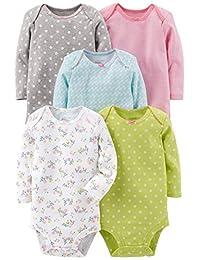 Simple Joys by Carter's baby-girls 5-pack Long-sleeve Bodysuit Bodysuit