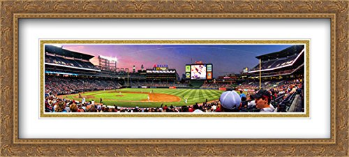 - Turner Field 2X Matted 40x18 Large Gold Ornate Framed Art Print from The Stadium Series