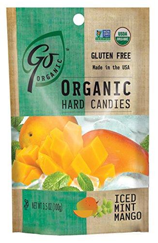 GoOrganic Organic Hard Candies, Iced Mint Mango, 3.5 Ounce Bag (Pack of 6) ()