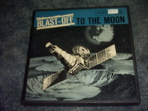 Blast OFF to the Moon Rare Ep 45 Rpm Record BOX SET
