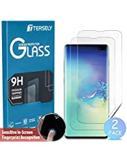 TERSELY Screen Protector for Samsung Galaxy S10 Plus, [2 Pack] Full Coverage HYDROGEL Aqua Screen Protector Flexible Full Cover Curved TPU for Samsung Galaxy S10+ S10 Plus [Fingerprint Unlock]