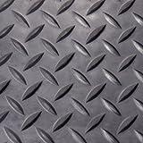Diamond Plate Rubber Flooring Rolls, 3mm x 4ft x 3ft Rolls