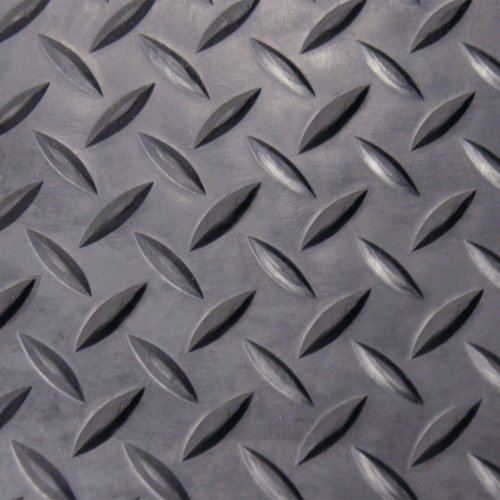Rubber Cal Diamond Plate Rubber Flooring Rolls 1 8 Inch X