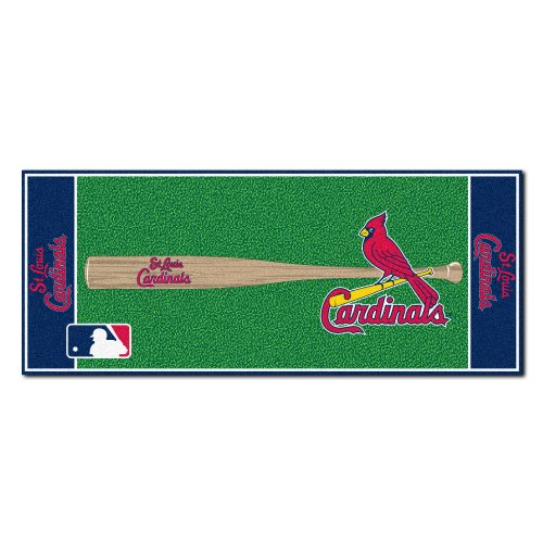 - FANMATS MLB St Louis Cardinals Nylon Face Football Field Runner