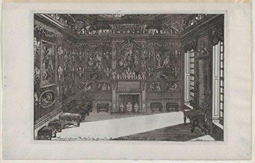 Art Print | Daniel Marot the Elder | Interior of a Porcelain Cabinet with Paintings and Vases, from Nouveaux Liure da Partements, part of Œuvres du Sr. D. Marot | ()