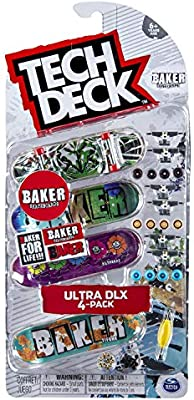 Tech-Deck Ultra DLX 4 Pack 96mm Fingerboards Baker 2019 Edition
