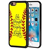 iphone 6 protective case softball - iPhone 6 Case,iPhone 6S Case,FORFLY Slim Impact Resistant Shock-Absorption Silicone TPU Back Protective Case Cover for Apple iPhone 6/6S,Bible Verse Proverbs 31:25 Softball