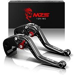 MZS Short Brake Clutch Levers for Yamaha FAZER 600 1999,FZ1 FAZER 2006-2013,FZ6 FAZER 2004-2010,FZ6R 2009-2015,FZ8 2011-2015,MT-07/FZ-07 2014-2017 Black
