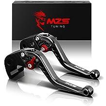 MZS Short Brake Clutch Levers for Buell M2 Cyclone 1997-2002,S1 Lightning 1997-1998,X1 Lightning 1998-2002,XB12R 2009,XB12Ss 2009,XB12Scg 2009 Black