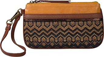 THE SAK Women's Iris Large Wristlet,Ochre Tribal,US