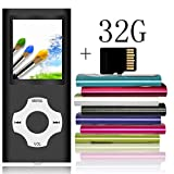 Tomameri - Portable MP3 / MP4 Player with Rhombic Button, Including a Micro SD Card and Support Up to 64GB, Compact Music, Video Player, Photo Viewer Supported - White-with-Black