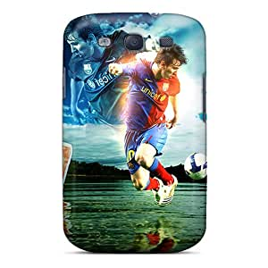 Cases Covers The Player Of Barcelona Lionel Messi Dribbling/ Fashionable Cases For Galaxy S3