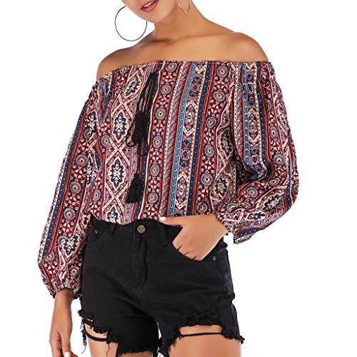 Sonnena Mode Frauen Slash Neck Flare Sleeve Schulterfrei
