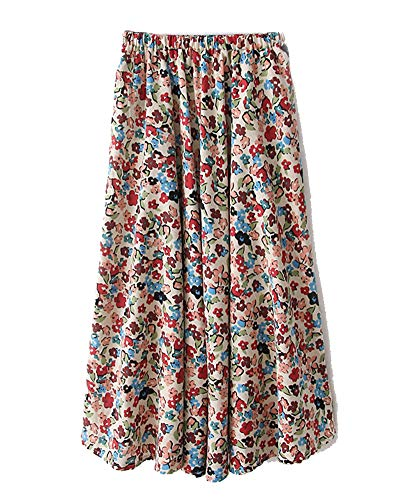 Taille Femmes Comme 9 Jupes Shaoyao Casual Jupe Image Elastique Chic Maxi Boho Rtro qpAFOwgA