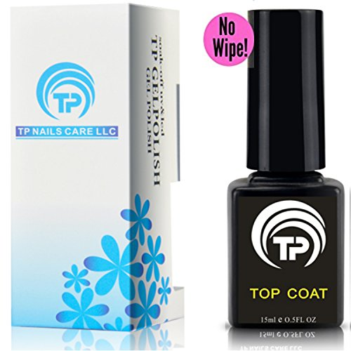 No Wipe Gel Top Coat . Premium shining soak off TP Non-Wipe Gel Top Coat 15 ml per bottle. (1 pack)