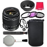 Canon EF-S 18–55mm f/3.5–5.6 IS II Lens For Canon T3 T5 T6 T3i T5i T6i T6s 70D 60D 80D 700D 750D 600D 7D Mark II DSLR Cameras + Complete Accessory Kit - International Version (No Warranty)
