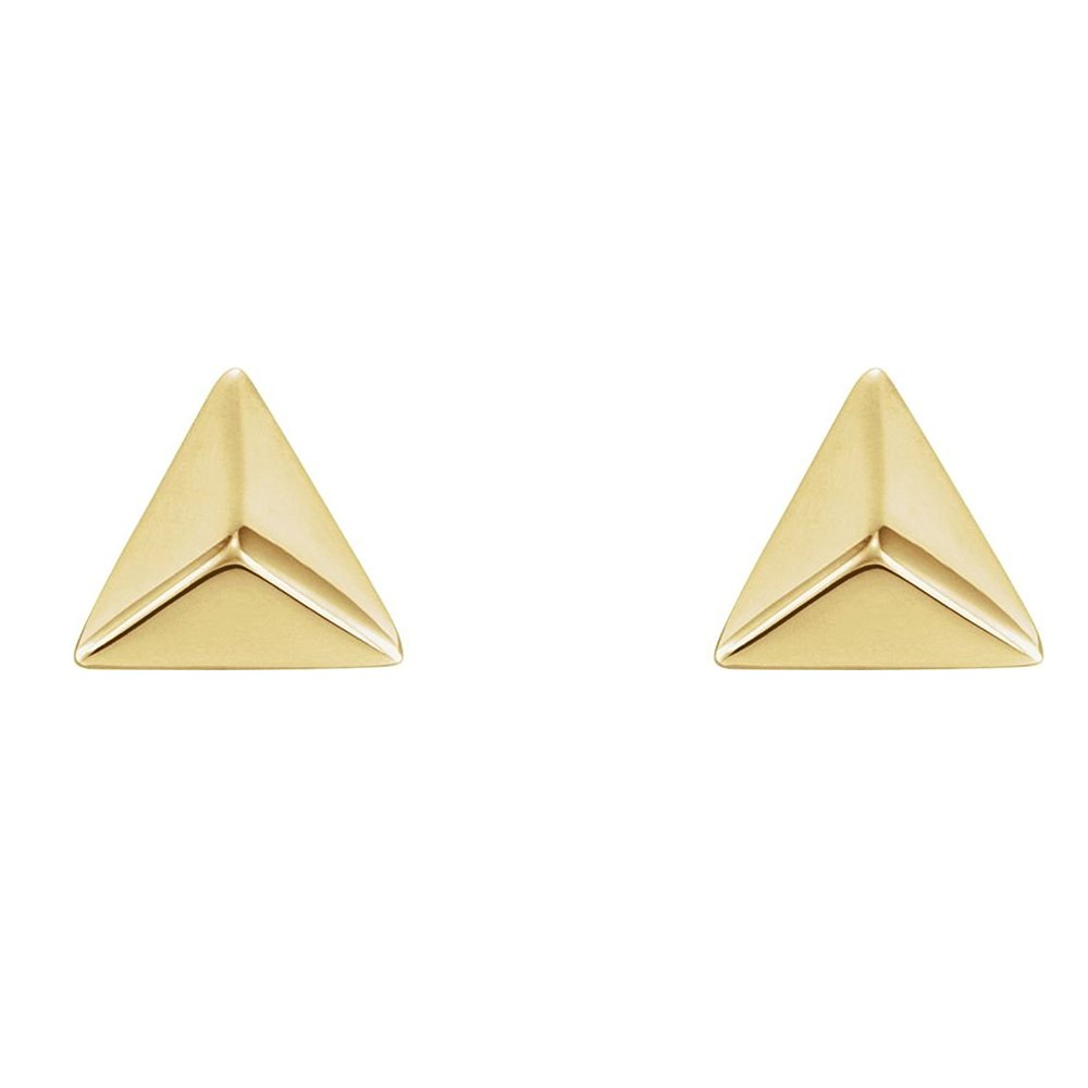 Dainty Pyramid Stud Earrings Mininalist Jewelry Tiny Studs Earring for Women and Men