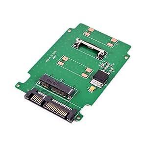 """Tarjeta Mini MSATA SSD 50mm a 2.5"""" SATA 7+15Pin Adaptador Convertidor"""
