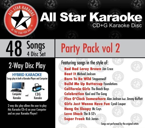 (ASK-6002 Party Pack Vol. 2 Marvin Gaye, Elvis Presley, Michael Jackson, Hank Williams by Various/Karaoke)