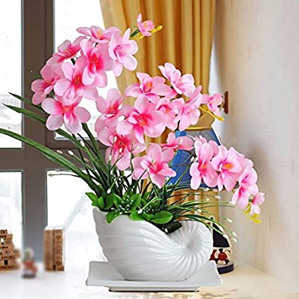 Amazon Com Jingb Home Butterfly Orchid Fake Decoration Artificial