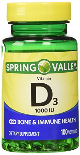 Twinpack Spring Valley High-potentcy D-3 1000 IU, Twin Pack, 100 softgels each
