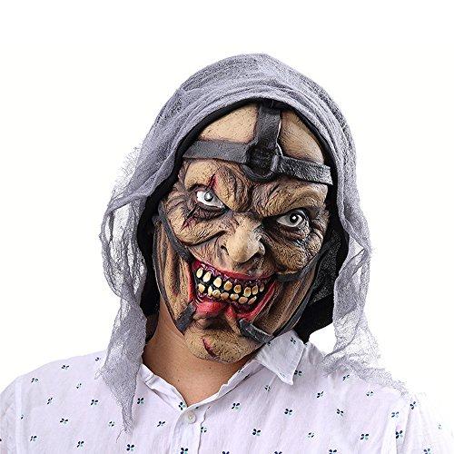 Crystalzhong Unisex Halloween Mask Halloween Horror Sorcerer Pegs