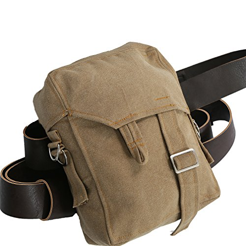 Rey Bag Brown Canvas Rey Sidebag with PU Belt Cosplay Accessories