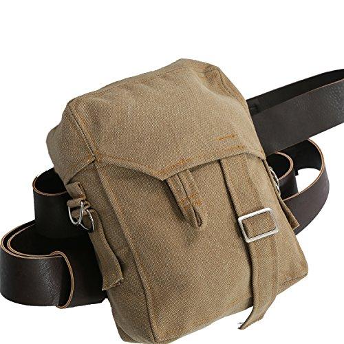 Rey Bag Brown Canvas Rey Sidebag with PU Belt Cosplay Accessories