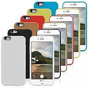 ZXC Honeycomb Texture Pattern TPU Cover for iPhone 6 Plus(Assorted Colors) , White