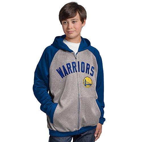 State Track Jacket - NBA Golden State Warriors Legend Hooded Track Jacket, X-Large, Gray