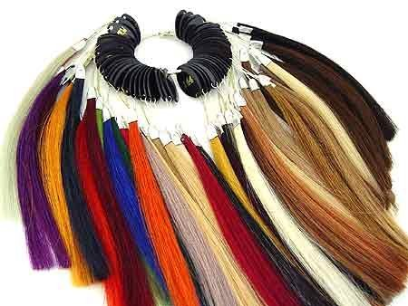 Pre Bonded Sythethic Hair Extensions Color Rings Chart Swatches by Hair Color Ring Swatch