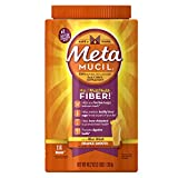 Metamucil Daily Fiber Supplement, Orange Smooth Sugar Psyllium Husk Fiber Powder, 114 Doses