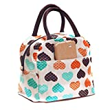 Wowlife Cute Love Heart Lunch Bag Tote Bag Lunch Organizer Lunch Holder Lunch Container Reusable Lunch Bags ¡