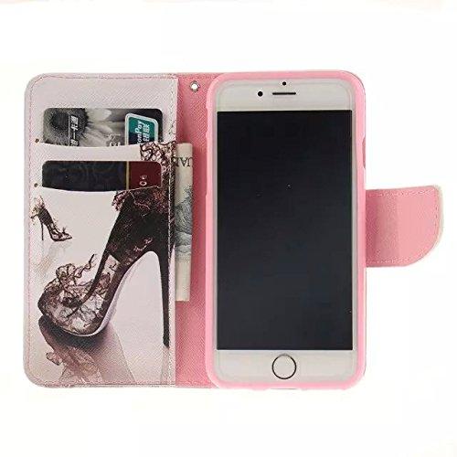 """Coloré Motif PU Cuir portefeuille Housse Etui pour Apple iPhone 6s Plus / iPhone 6 Plus 5.5"""" Case Coque Effacer Protection Flip Cover avec carte de crédit Slots (T08#)"""
