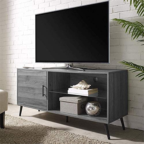 Pemberly Row Modern Mid Century Entertainment TV Stand Console Storage Cabinet